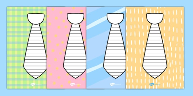 Father's Day Tie Shape Poetry Templates - australia, fathers day