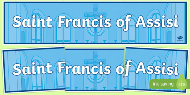 Saint Francis of Assisi Display Banner