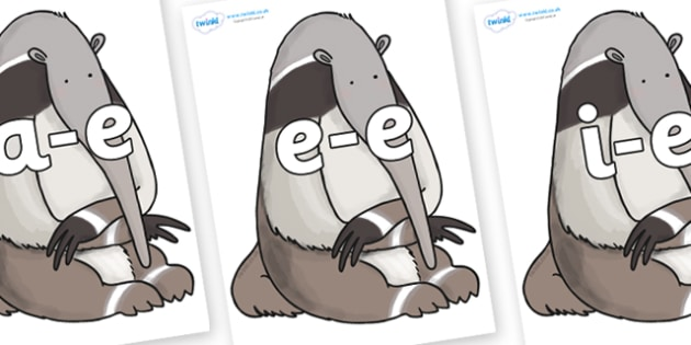 Modifying E Letters on Anteater to Support Teaching on The Great Pet Sale - Modifying E, letters, modify, Phase 5, Phase five, alternative spellings for phonemes, DfES letters and Sounds
