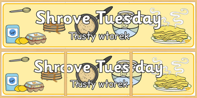 Shrove Tuesday Display Banner Polish Translation - Polish, shrove Tuesday, display, banner