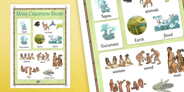 Mayan Civilization Creation Story Vocabulary Poster - stories