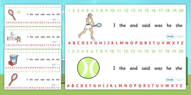 Wimbledon Themed Alphabet Strip - a-z strip, a-z, visual aid