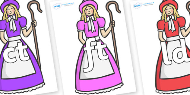 Final Letter Blends on Little Bo Peep - Final Letters, final letter, letter blend, letter blends, consonant, consonants, digraph, trigraph, literacy, alphabet, letters, foundation stage literacy