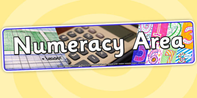 Numeracy Area Photo Display Banner - numeracy area, display, photo banner, banner, display banner, display header, themed banner, photo display, photo
