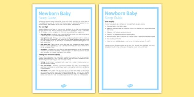 Newborn Baby Sleep Guide - Baby, sleep, routine, babies, parents, new parents, sleeping, nap, naps, advice