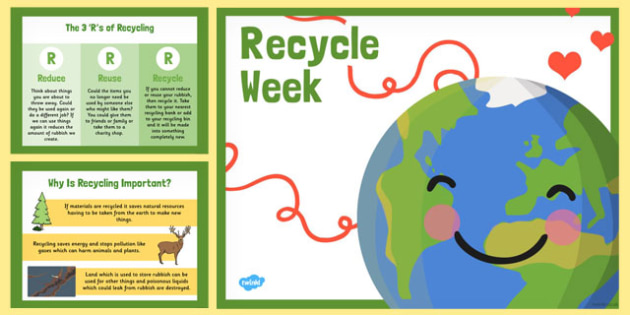 Recycle Week PowerPoint - recycle week, powerpoint, recycle