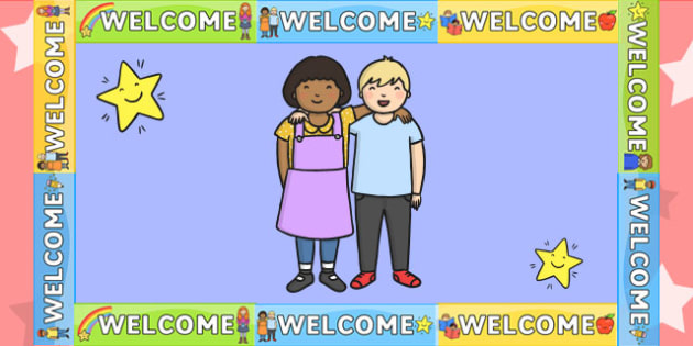 Welcome Display Border - welcome display, class display, border