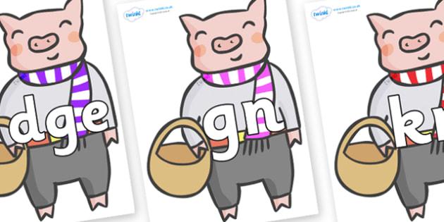 Silent Letters on Little Piggy - Silent Letters, silent letter, letter blend, consonant, consonants, digraph, trigraph, A-Z letters, literacy, alphabet, letters, alternative sounds