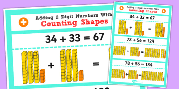 Adding 2 Digit Numbers and Tens Using Base 10