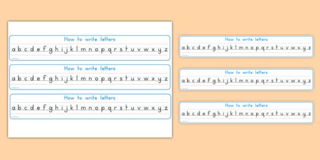 How To Write Letters Alphabet Strips - usa, america, how to write, letters, how, write, alphabet strips, alphabet, strip