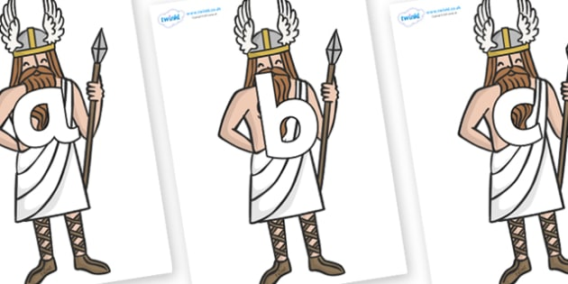 Phoneme Set on Viking Gods - Phoneme set, phonemes, phoneme, Letters and Sounds, DfES, display, Phase 1, Phase 2, Phase 3, Phase 5, Foundation, Literacy