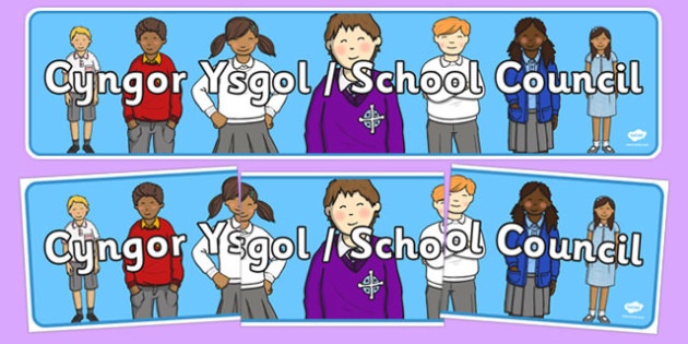 School Council Display Banner Bilingual - welsh, cymraeg, School Council, Display Banner, Welsh Display Resources