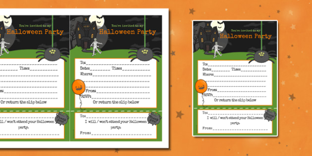 Halloween Party Invitations - invites, party, festival, celebrate