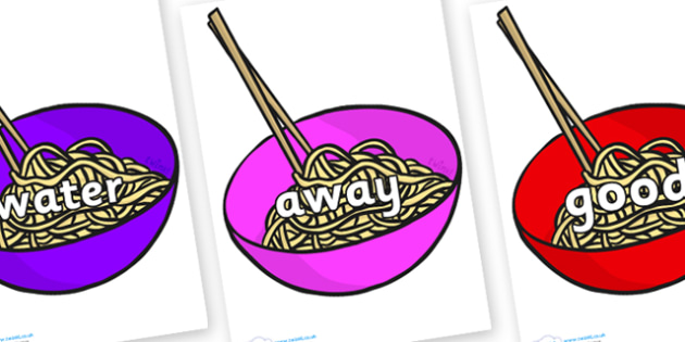 Next 200 Common Words on Chinese Noodles - Next 200 Common Words on  - DfES Letters and Sounds, Letters and Sounds, Letters and sounds words, Common words, 200 common words