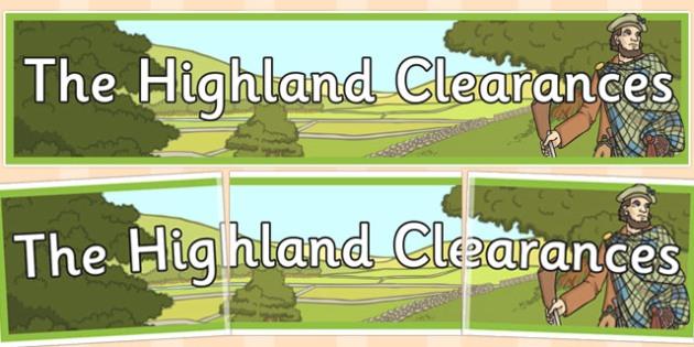 The Highland Clearances Display Banner - highland, clearances