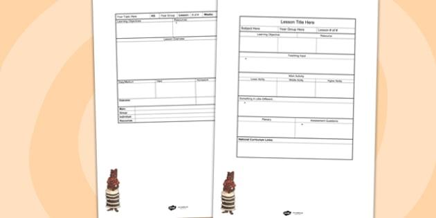 Benin Editable Individual Lesson Plan Template - lesson plan