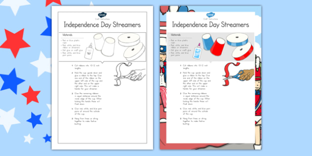 Independence Day Streamers Craft - usa, america, Independence day, Craft