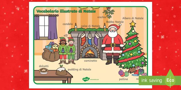 Italian Natale vocabolario Illustrato - vocabolario illustrato, natale, bottega, babbo natale, Buona natle, festivo, natalizio, festivitaà,