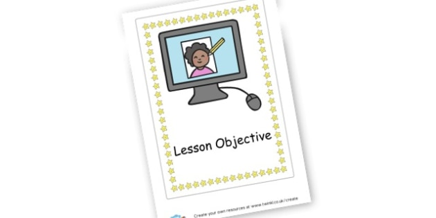 ICT Lesson objective