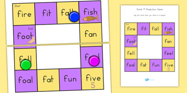 f and Vowel Production Game - australia, vowel, production, game