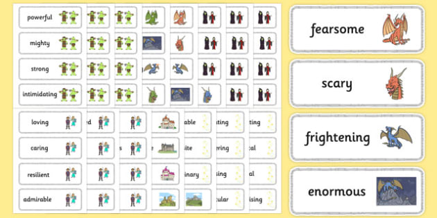 Fairy Tale Adjective Word Cards - fairy tale, fairy, tale, adjective, word cards, word, cards
