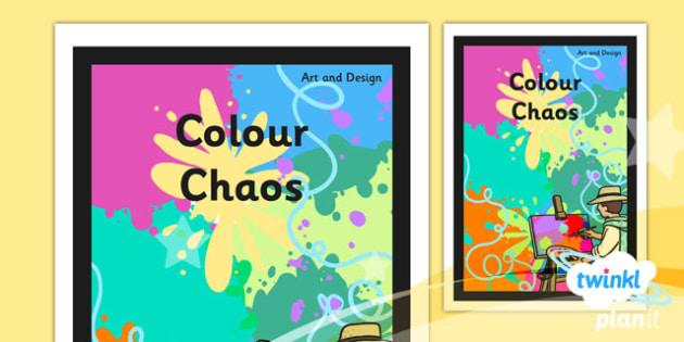 PlanIt - Art KS1 - Colour Chaos Unit Book Cover - planit, book cover, art and design, art, ks1, colour chaos