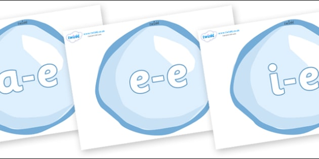 Modifying E Letters on Bubbles - Modifying E, letters, modify, Phase 5, Phase five, alternative spellings for phonemes, DfES letters and Sounds