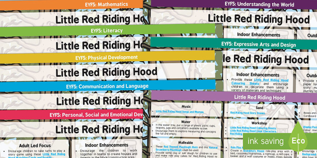 EYFS Little Red Riding Hood Lesson Plan Enhancement Ideas and Resources Pack - stories, lessons