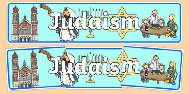 Judaism Display Banner - Religion, faith, banner, display, sign, synagogue, hannukah, jew, jewish, God, RE, rabbai, judiasm