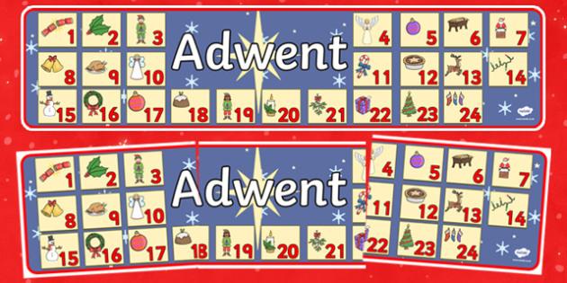 Adwent Advent Christmas Display Banner Polish - polish, advent, christmas, display banner, banner, banner for display, classroom display, header, display header, themed banner