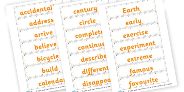 Yr 3 Spellings cards - KS2 Spelling Primary Resources, Spelling, KS2 Spelling, KS2