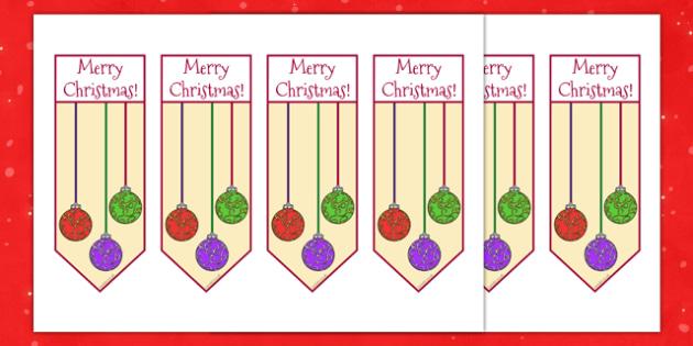 Christmas Bookmarks for Gifts - christmas, bookmarks, gifts, christmas gifts, present