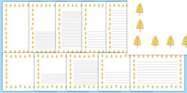 Aspen Tree Themed Page Borders - aspen tree, themed, page borders, page, borders, aspen, tree