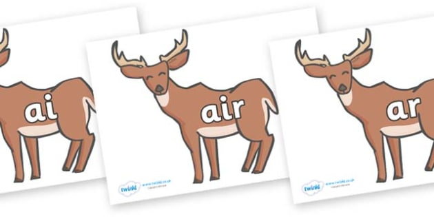 Phase 3 Phonemes on Deer - Phonemes, phoneme, Phase 3, Phase three, Foundation, Literacy, Letters and Sounds, DfES, display