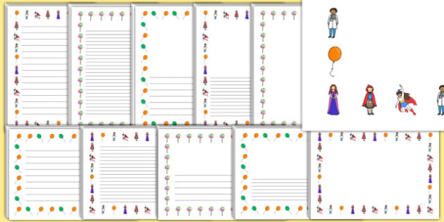 Light Party Page Borders - light party, halloween, balloons, party