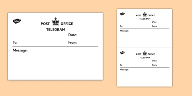 Telegram Template - telegram, template, post office, telegram template, communication