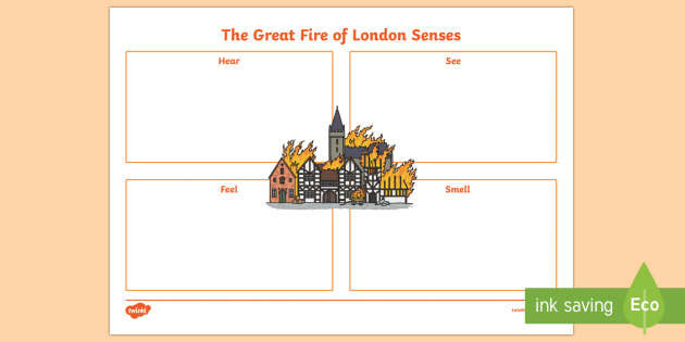 The Great Fire of London Senses Activity Sheet, worksheet