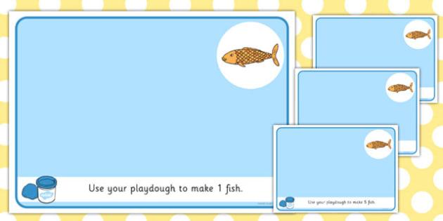 Basic Counting Fish Playdough Mats Counting Playdough Mats