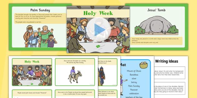Holy Week Resource Pack - Holy Week, Jesus, Easter, resource, pack