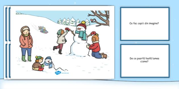 Iarna, Plansa - comunicare, dezvoltarea vorbirii