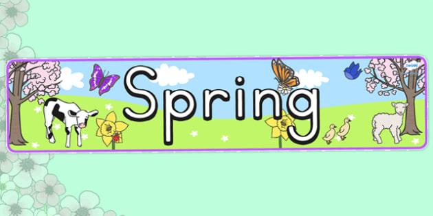 Seasons Banners Spring - season, spring, weather, banner, display