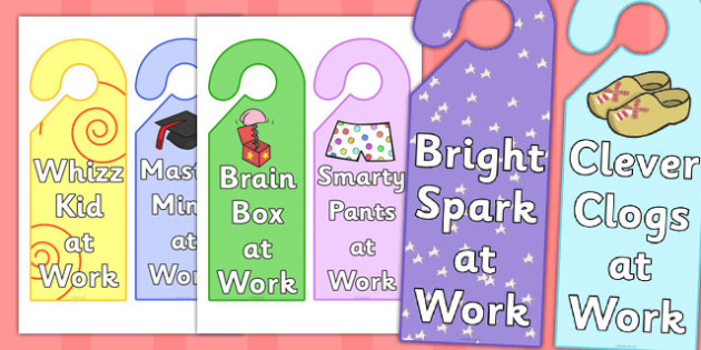 At Work Reward Door Hangers - at work reward door hangers, at work, reward, door hangers, door, hangers, rewards, award, work, sign, label