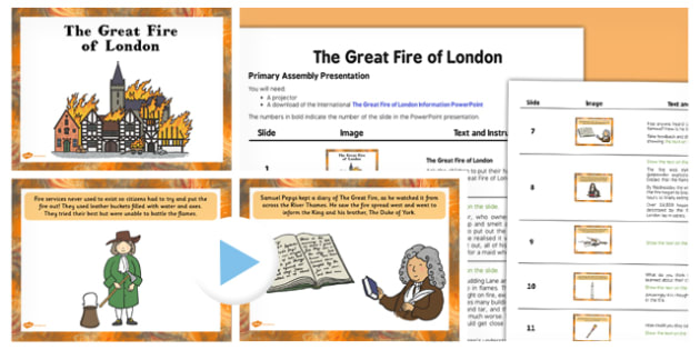 The Great Fire of London PowerPoint Assembly Pack - assembly, pack