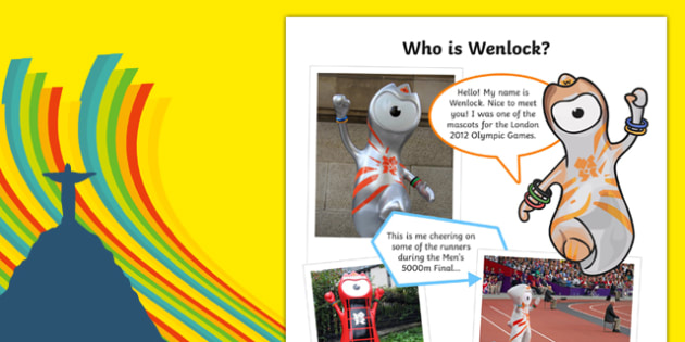 The Olympics   Wenlock the London 2012 Mascot Information Sheet-Scottish