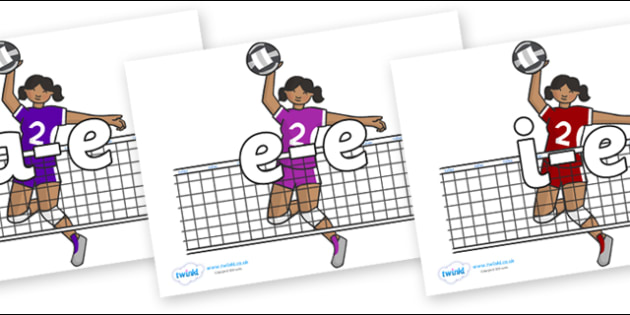 Modifying E Letters on Volleyball Players - Modifying E, letters, modify, Phase 5, Phase five, alternative spellings for phonemes, DfES letters and Sounds
