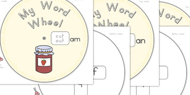 CVC Word Wheels Initial Sounds - australia, cvc, words, wheels