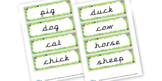 Farm Animals Word Cards - On The Farm Literacy Primary Resources, Literacy,Farm,  Primary