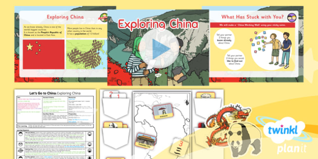 PlanIt - Geography Year 2 - Let's Go to China Lesson 2: Exploring China Lesson Pack