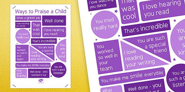 Ways to Praise a Child (Staff) - ways, praise, child, staff, ways to