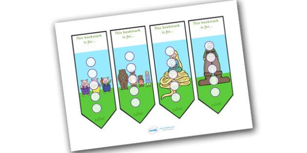 Traditional Tales Sticker Reward Bookmark 15mm - bookmarks, reward bookmark, traditional tales reward bookmark, traditional tales sticker bookmark, 15mm